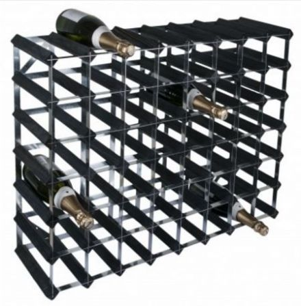 RTA 56 Bottle Black Ash Wine Rack Kit WINE0075